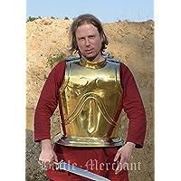 hischer Griego de pecho y espalda tanque de latón Armadura LARP Vikingo Medieval
