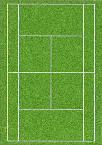 Top That Zuckerfolie, Motiv: Gras-Tennisplatz, DIN A4,bedruckt, 1 Stück, als Dekoration, essbar, Kuchenauflage, perfekt für große Kuchen, Wimbledon
