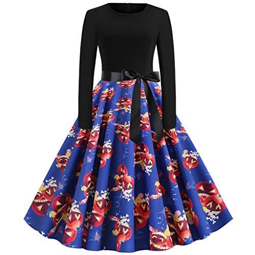 Fresofy Kleid 50er Jahre Rockabilly Damen Vintage Polka Dots Blumendruck Bodycon Ärmellos Casual Abend Prom Swing Kleid Röcke -