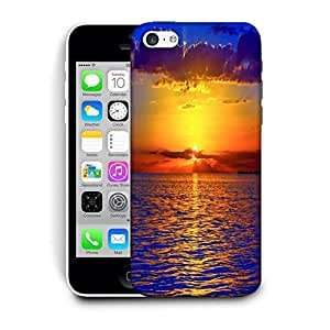 Snoogg Sunset Over Ocean Designer Protective Phone Back Case Cover For Apple Iphone 5C