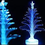 GYD Weihnachtsbaum Weihnachtsbaum Weihnachtsbaum Blinklicht bis Lampe Weihnachts Weihnachtsbaum mit Farbwechsler LED-Glasfaser(Weiß 12 * 3.7 cmcm)