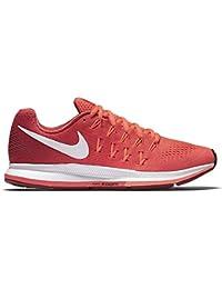 Nike Wmns Nike Air Zoom Pegasus 33–BRT crmsn/White de Gym RD de BRT mng, tamaño: 6.5