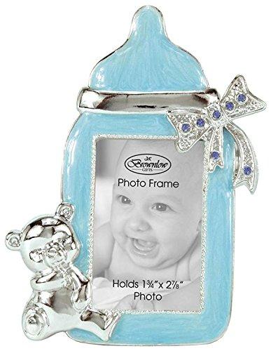 Brownlow Kitchen Boy Baby Bottle Photo Frame With Rhinestone Accent