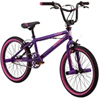 20 Mongoose Wired Freestyle Girls' BMX Bike, Durable Steel Frame, Alloy Brakes, Comfortable to Ride for Girls Ages 8 to 11, R0913WM by Mongoose - Mongoose Bmx Bike