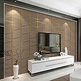 3D Tapete moderne minimalistische geometrische Figur Hirschleder Vliestapete Schlafzimmer Relief
