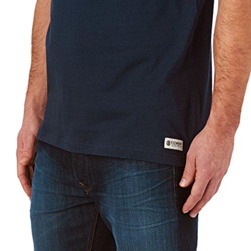 Element Herren T-Shirt Basic Pocket Shirt, T-Shirt mit Brusttasche midnight blue heather