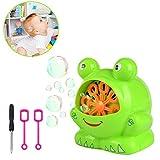 Aolvo [Kids Gift Bubble Machine, automatico rana soffiatore Bubble Machine Bubble Bubble Maker, oltre 500bolle al minuto con due Bubble Wands Giftseasy usare