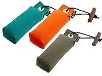 Mystique Pocket Lot de 3 boudins pour chien Vert/orange/bleu 3 x 150 g
