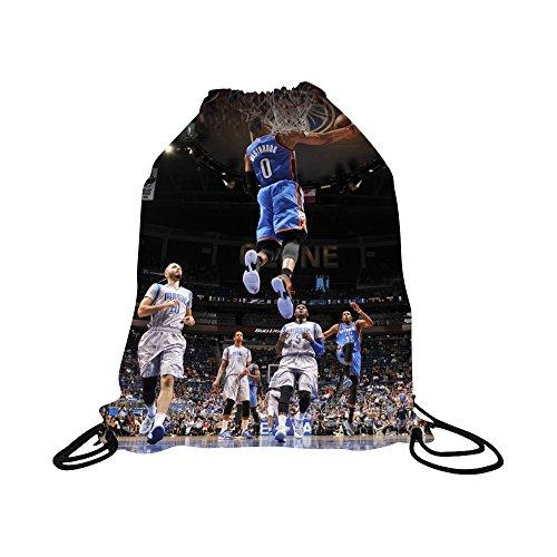 Westbrook (Jersey Basketball Kordelzug Rucksack mit Premium Einzigartige Tasche mit Kordelzug mit Perfekte Geschenk für Oklahoma Westbrook (# 0Basketball Fans, Rot, Drawstring Backpack