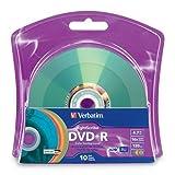 Verbatim 16x DVD+R LightScribe Assorted Color Blank Media, 4.7GB/120min - 10 Pack