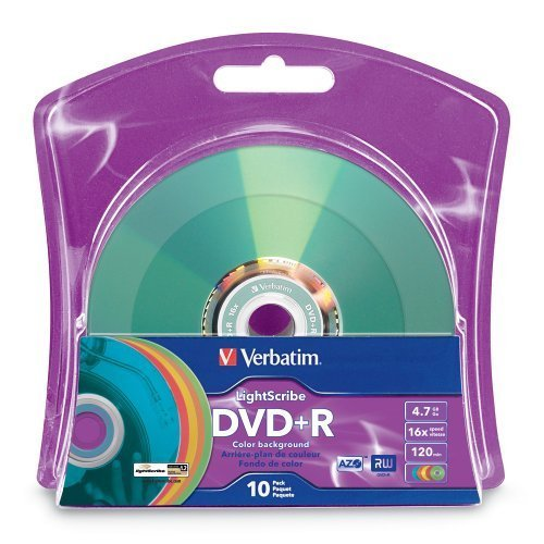 Produplicator Verbatim DVD+R LightScribe leere Datenträger, 4.7GB/16x/120min