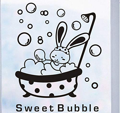 Aufkleber Cartoon Tier Bunny Süße Blase Wandaufkleber Nette Wasserdichte Baby Badezimmer Dekor Wandkunst Decals38X27 Cm ()
