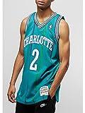 Mitchell & Ness NBA Charlotte Hornets Larry Johnson 1992-93 Retro Jersey Swingman Oficial Away Hardwood Classics, Maglia da Basket per Uomo, Small