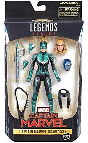 Marvel Legends Series Captain Marvel Movie 6-inch Captain Marvel (Star Force) Figure