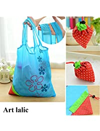Designeez 1Pcs Thicken Eco Storage Handbag Foldable Strawberry Carrying Bag Tote Reusable Supermarket Storage...