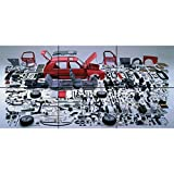 GOLF VW CAR AUTOMOBILE EXPLODED COMPONENTS DISASSEMBLED PARTS GIANT PICTURE ART POSTER PLAKAT DRUCK PRINT B319