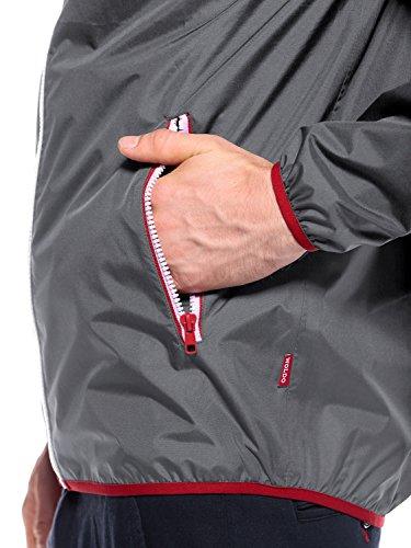 WOLDO Athletic Herren Regenjacke Windbreaker mit Kapuze Wasserdicht Atmungsaktiv Winddicht Harper / grau
