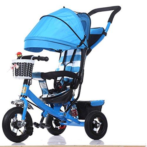 Chengxin Standardkinderwagen Mode mit Sonnenschirm-Kinderwagen-Klapprad für Kinder - 1-3-5 Jahre altes Pedicab für Kinder Standardkinderwagen (Color : A)