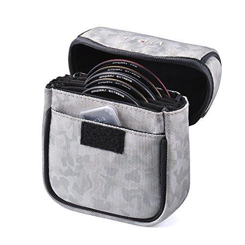 Tycka 5 Taschenbeutel Objektivtasche für bis zu 86mm Runde filter, herausnehmbares Innenfutter und wasserbeständiges und staubdichtes Design, camouflage