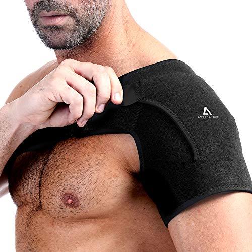 Anoopsyche Schulterbandage Verstellbare Neopren Schulter Schulterschmerzen Unterstützung Bandage Sportverletzungen Sehnenentzündungen arthritische Schultern Linke/Rechte für Männer/Frauen