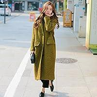 &zhou Inverno lungo cappotto panno lana. temperamento lungo sopra il