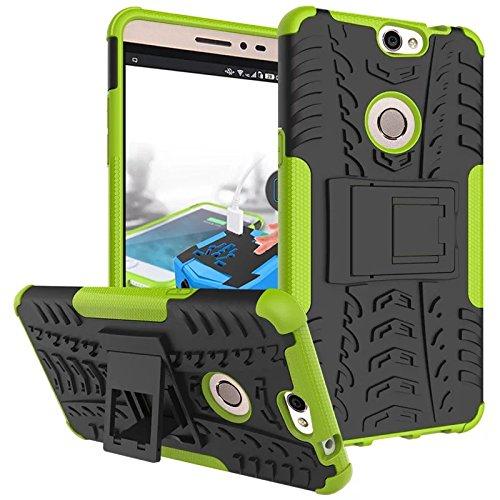 Coolpad Max Hülle, CaseFirst Stoßfest Hybrid Combo Handytasche Anti-kratzer TPU + PC 2 in 1 Handyhülle Anti-Rutsch Schutzhülle Schutz Shockproof Case Cover (Grün)