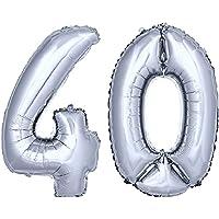 DekoRex® stagnola palloncino numero pallone ad elio