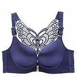 Shirloy Thin No Steel Ring vorne Schnalle BH Keine Spur Sexy Beauty Rücken BH versammelt Anpassung Unterwäsche, blau, 105A