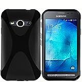 kazoj Schutzhülle Samsung Galaxy Xcover 3 Hülle im X-Design aus TPU in schwarz