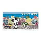CafePress–Snoopy–Coast Life–Große Strandtuch, weiche 76,2x 152,4cm Handtuch mit Einzigartiges Design