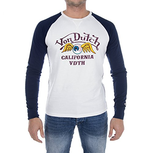 vondutch-t-shirt-long-blue-and-white-flying-eye-von-dutch-taille-xl-couleur-blanc-100-coton