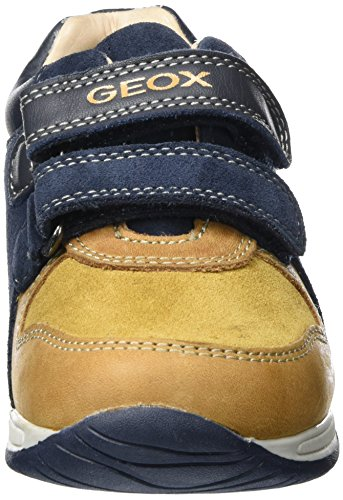 Geox B Rishon A, Chaussures Marche Bébé Garçon Beige (Biscuit/navy)