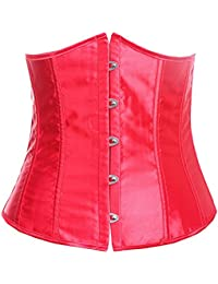 E-Girl design unique Corset près du corps,rouge
