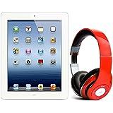 Pack iPad 3 64Go Wifi Blanc avec casque Bluetooth Rouge