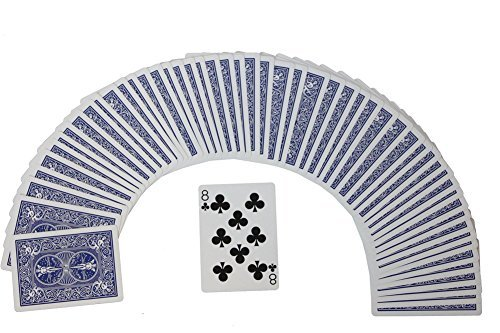 Rock Ridge One Way Forcing Deck for Magic Tricks, Blue Bicycle 8 of Clubs