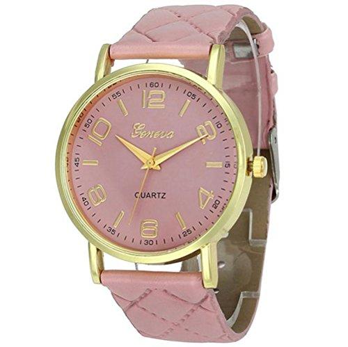 - 51tTwJvJdtL - Womens Geneva Quartz Watches,Ulanda-EU Unique Numeral Analog Clearance Lady Wrist Watch Female watches on Sale Watches for Women,Round Dial Case Comfortable Faux Leather Wristwatch m30 (Pink)