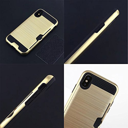 iPhone 7 8 Armor Case, Very Light Slim Lines Style/Convenient IC Card Slot, WEIFA 2017 Newest Super Cool Anti-Drop Protection CellPhone Cover Case For iPhone7 8 White !Silver