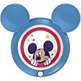 Philips Disney Mickey Mouse - Luz nocturna, LED, sensor, luz blanca cálida, bombilla de 0,06 W, color azul