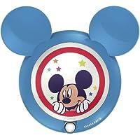 Philips Disney Mickey Mouse - lámpara infantil, Luz nocturna con sensor, luz blanca cálida, bombilla LED, color azul
