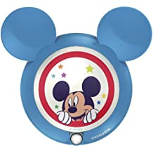 Philips Disney Mickey Mouse - Luz nocturna con sensor, luz blanca cálida, bombilla LED de 0,06 W, color azul