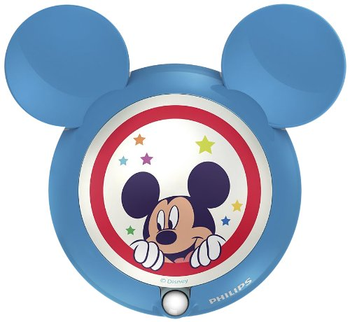 Philips e disney luce notturna mickey mouse, led, con sensore di movimento