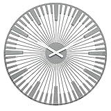 Koziol Piano Reloj de Pared, plástico, Solid Cool Grey, 3.2 x 45 x 45 cm