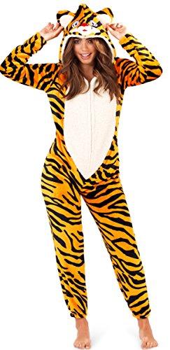 Loungeable Donna Lusso 3d animale tutto in un jumpsuit costume intero tigre 42