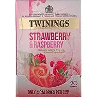 Twinings fresa y frambuesa Bolsitas de té - 4 x 20