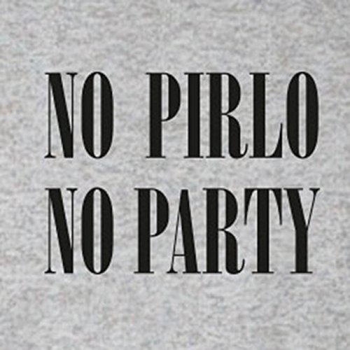 No Pirlo No Party - Stofftasche / Beutel Blau