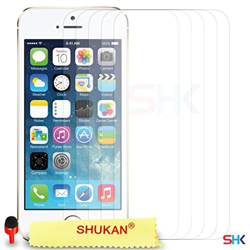 """Apple iPhone 6 / 6S Plus (5.5"""" Inch) Pack 1, 2, 3, 5, 10 Protecteur d'écran & Chiffon SVL0 PAR SHUKAN®, (PACK 10) Pack De 5"""