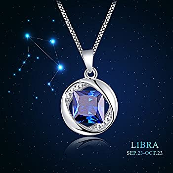 "Aurora Tears Jewellery September Birthstone Sapphire Pendant 925 Sterling Silver Necklace 18"" Dp0029s 2"