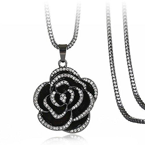 MOOK Damen Halskette 925 Sterling Silber Anhänger Geschenk für Damen High-End-kreative Anhänger zarte Rosenkette