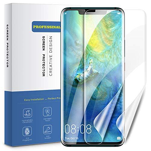 VANZEV Huawei Mate 20 Pro Schutzfolie [2 Stück] Hüllenfre&liche Abdeckung Bildschirm Folie TPU [Kein Panzerglas] HD-Klar Blasenfreie Aufbringung Diaplayschutzfolie für Huawei Mate20 Pro