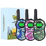 Nestling Kids Walkie Talkies 3 Pack, Mini 2 Way Radios...